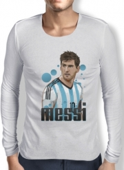 Mens Long Sleeve T-shirt Football Legends: Lionel Messi World Cup 2014