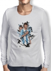 Mens Long Sleeve T-shirt Football Legends: Lionel Messi Argentina