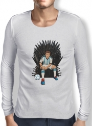 Mens Long Sleeve T-shirt Game of Thrones: King Lionel Messi - House Catalunya