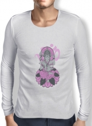 Mens Long Sleeve T-shirt Ganesha