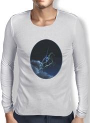 T-Shirt homme manche longue Knight in ghostly armor