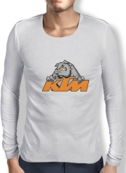Mens Long Sleeve T-shirt KTM Racing Orange And Black