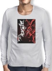 Mens Long Sleeve T-shirt Kyubi x Naruto Angry