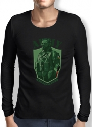 Mens Long Sleeve T-shirt MGS Phantom Pain Army Men Big Boss Diamond Dogs
