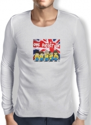 Mens Long Sleeve T-shirt Minions mashup One Direction 1D