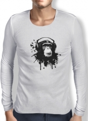 T-Shirt homme manche longue Monkey Business - White