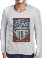 Mens Long Sleeve T-shirt Motors vintage