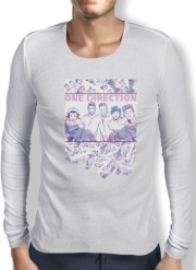 Mens Long Sleeve T-shirt One Direction 1D Music Stars