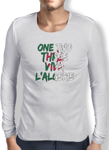T-Shirt homme manche longue One Two Three Viva lalgerie Slogan Hooligans