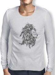 Mens Long Sleeve T-shirt Poetic Lion
