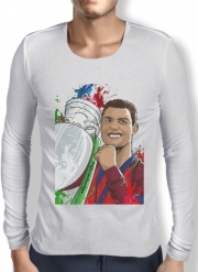 Mens Long Sleeve T-shirt Portugal Campeoes da Europa