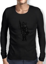 Mens Long Sleeve T-shirt Post Apocalyptic Warrior