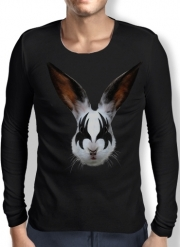 Mens Long Sleeve T-shirt Kiss of a rabbit punk