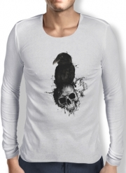 T-Shirt homme manche longue Raven and Skull