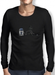 Mens Long Sleeve T-shirt Robotic Hoover