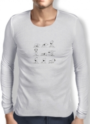 T-Shirt homme manche longue Snoopy Yoga