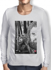 Mens Long Sleeve T-shirt The Bear and the Hunter Revenant