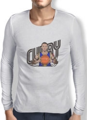 Mens Long Sleeve T-shirt The Warrior of the Golden Bridge - Curry30