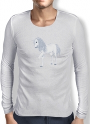 Mens Long Sleeve T-shirt The White Unicorn