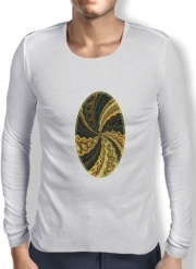 Mens Long Sleeve T-shirt Twirl and Twist black and gold