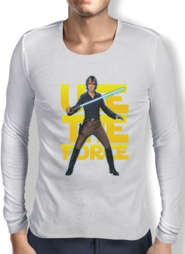 Mens Long Sleeve T-shirt Use the force