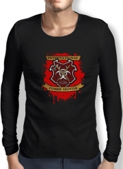 Mens Long Sleeve T-shirt Zombie Hunter
