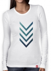 T-Shirt femme manche longue Blue Arrow