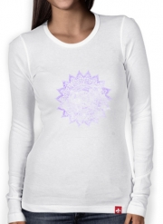 T-Shirt femme manche longue Bohemian Flower Mandala in purple