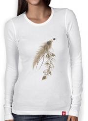 T-Shirt femme manche longue Boho Feather