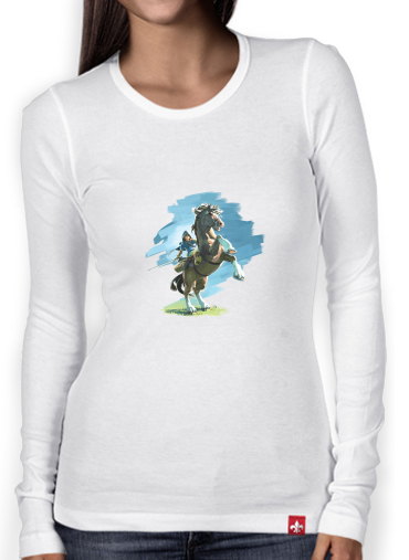 T-Shirt femme manche longue Epona Horse with Link