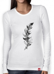 T-Shirt femme manche longue Feather
