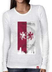 T-Shirt femme manche longue Flag House Connington