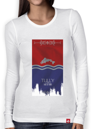 T-Shirt femme manche longue Flag House Tully