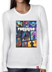 T-Shirt femme manche longue Fortnite - Battle Royale