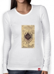 T-Shirt femme manche longue Harry Potter Carte Marauder Navigation
