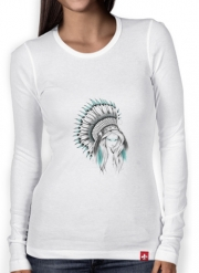 T-Shirt femme manche longue Indian Headdress