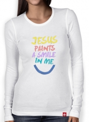 T-Shirt femme manche longue Jesus paints a smile in me Bible