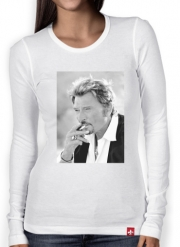 T-Shirt femme manche longue johnny hallyday Smoke Cigare Hommage