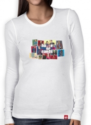 T-Shirt femme manche longue Mashup GTA and House of Cards