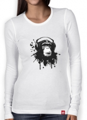 T-Shirt femme manche longue Monkey Business