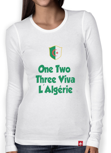 T-Shirt femme manche longue One Two Three Viva Algerie