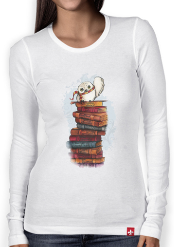 T-Shirt femme manche longue Owl and Books