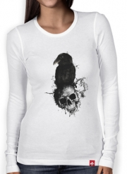 T-Shirt femme manche longue Raven and Skull
