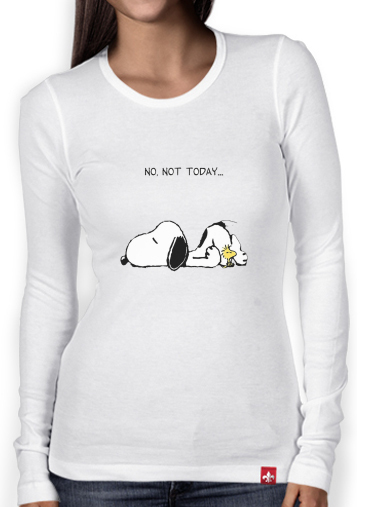 T-Shirt femme manche longue Snoopy No Not Today