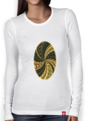 T-Shirt femme manche longue Twirl and Twist black and gold