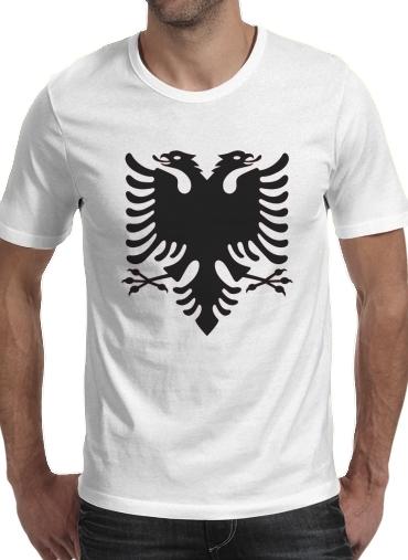 T-Shirts Albanie Painting Flag