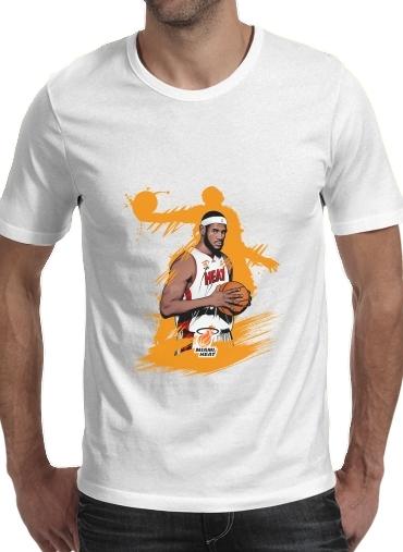 Basketball Stars: Lebron James för Men T-Shirt