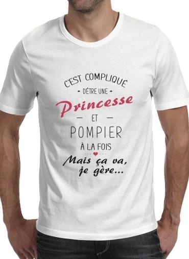 T-Shirts Cest complique detre une princesse et pompier