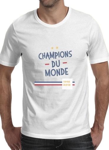T-Shirts Champion du monde 2018 Supporter France