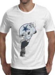 T-shirt short sleeve round neck  Football Helmets Dallas